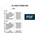 Jadwal Stand