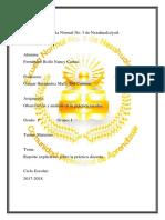 Reporte Explicativo Sobre La Pràctica Docente.