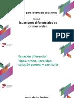 Sem01_Ecuación Diferencial (Tipos, Orden, Linealidad, Solución General y Particular)