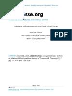 Strategic Management Case Analysis of Safaricom