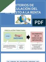 Criterios de Vinculación Del Impuesto a La Renta