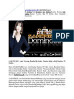 Situs Bandar Domino 99 | SAKONGKIU.com