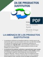 Amenaza de Productos Sustitutos-investigacion