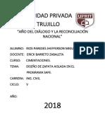 Diseño de Zapata Aislada Safe