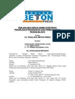Perjanjian Kerja Sama Cv. Tadulako Beton Press