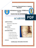 Acarosis o Sarna