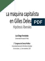 La Maquina Capitalista en Gilles Deleuz
