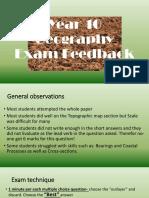 year 10 geography exam feedback  1