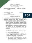 Judicial Affidavit - Accused