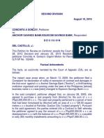 Sonley vs Anchor Savings Bank/Equicom Savings Bank