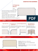Construction Barriers Catalog