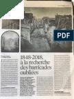 1848-2018 à la recherche des barricades oubliées