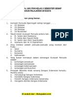 Soal UKK PKn Kelas 3