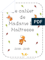 Le Cahier Temps Plein de Madame La Maitresse