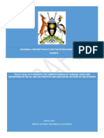 Draft of National Local Content Policy for Petroleum in Uganda