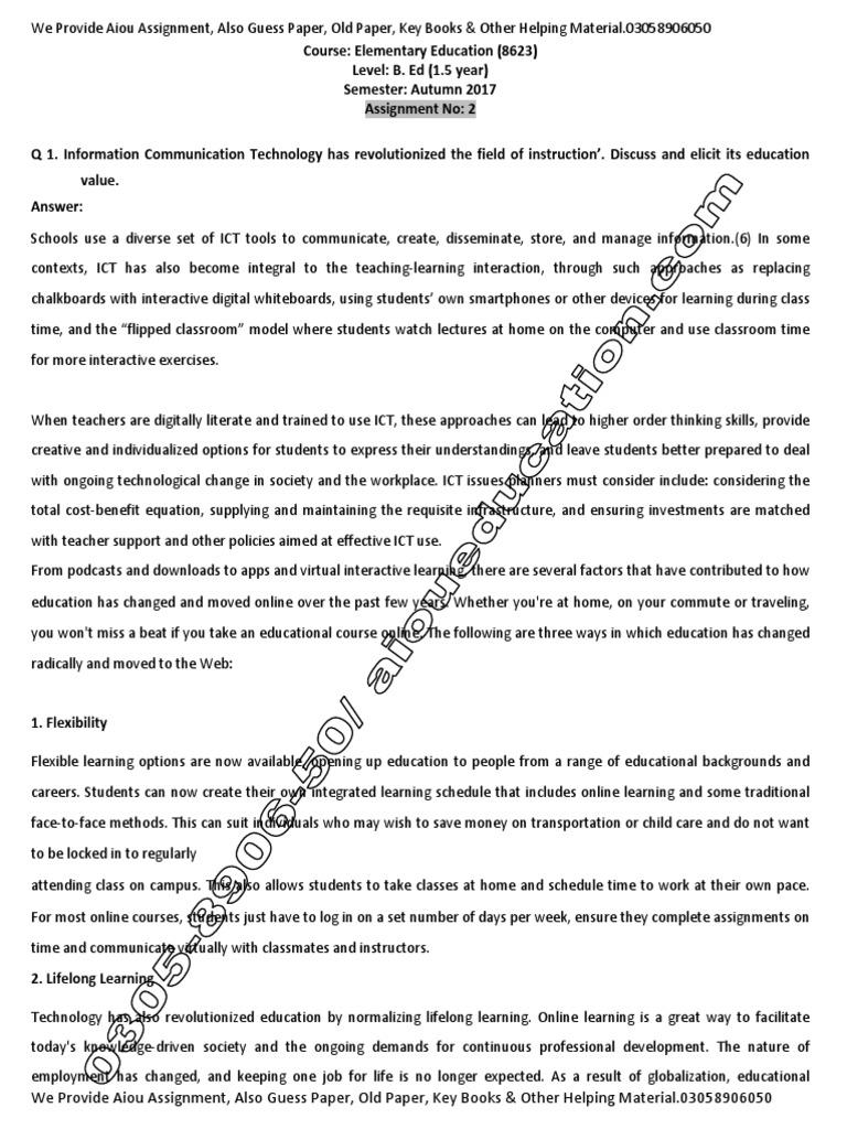 B ed All Assignments (1st & 2nd Semeseter) | Classroom