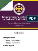 DOF Presentation on TRAIN Law