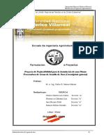 39921211 Estudio de Prefactibilidad Para La Instalacion de Una Planta de Industrializacion de Tara 2009