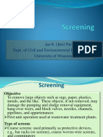 Water treatment Screening