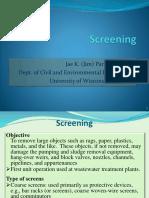 Water treatment Screening