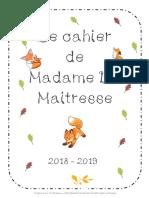 Le Cahier Temps Plein de Madame La Maitresse - ZONE B