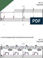 Bach Origen armónico del preludio en do