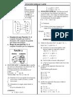 Función Lineal y Afin