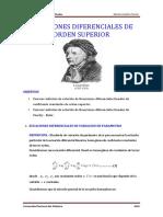 ECUACIONES DIFERENCIALES de Variacion de Parametro y Cauchy . Euler