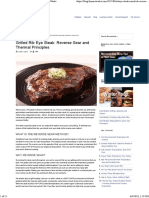 Grilled Rib Eye Steak Recipe, Reverse Sear _ ThermoWorks