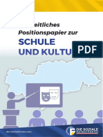 Freiheitliches Positionspapier | Schule & Kultur