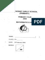 Primary 4 Mathematics