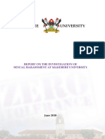 Makerere Committee Investigating Sexual Harassment FINAL Report June2018