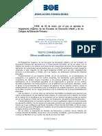 BOE a 1996 3689 Consolidado Real Decreto 82:1996 PRimaria