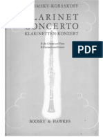 Rimsky- Korsakov-Concerto for Clarinet and Brass Band Clarinet Solo & Piano PART