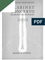 Rimsky- Korsakov-Concerto for Clarinet and Brass Band Clarinet Solo & Piano PART