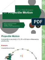 1.07 Projectile Motion