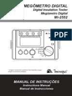 Manual Minipa 2552 1100 BR