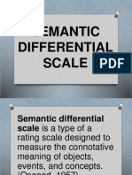 Semantic Differential Only