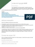 Arquivos CSV Para Lotes de Migração IMAP