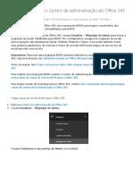 Migração IMAP No Centro de Administração Do Office 365