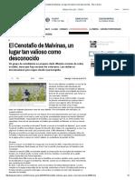 El Cenotafio de Malvinas, Un Lugar Tan Valioso Como Desconocido - Pilar a Diario