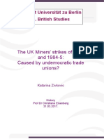 The UK Miners' strikes of 1972 and 1984-5