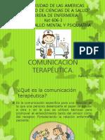 COMUNICACIÓN TERAPÉUTICA