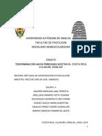 Discriminación Hacia Personas Adictas El Costa Rica, Culiacán, Sinaloa