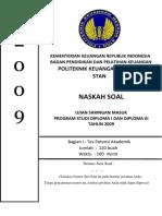 Soal Dan Pembahasan Tpa Tbi Pkn Stan Bc 2009