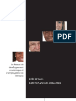 RDÉE Ontario - Rapport annuel 2004-2005