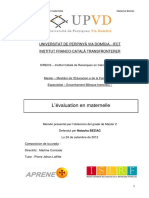 M2 2012 Beziac Natacha Evaluation en Maternelle
