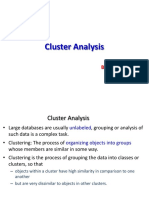 Cluster Analysis and DBSCAN