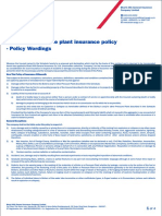 16. Boiler and Pressure Plant Insurance - Policy Wordings