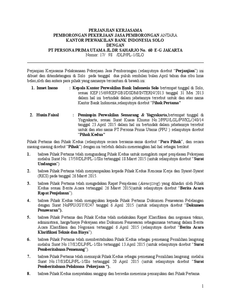 Kpw Perjanjian Pemborongan Pekerjaan 15 2